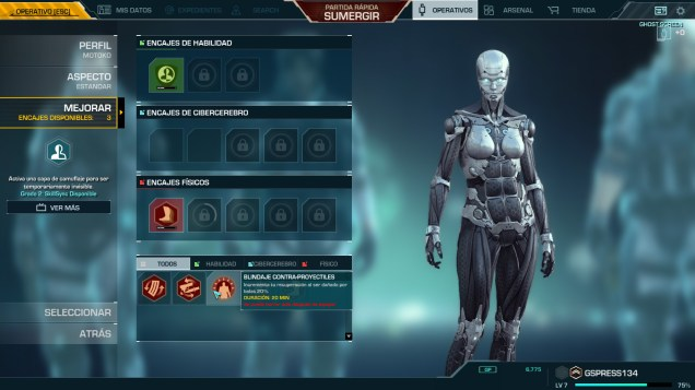 Ghost in the Shell SAC First Assault Online menu