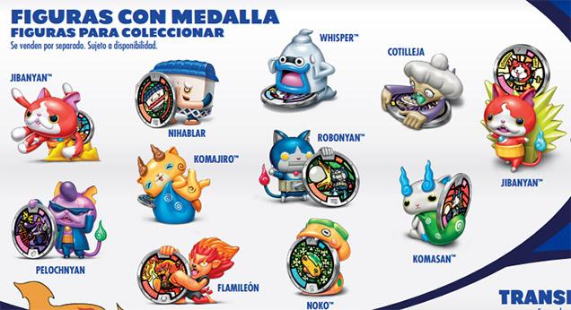 Figuras Yo-Kai Watch medalla