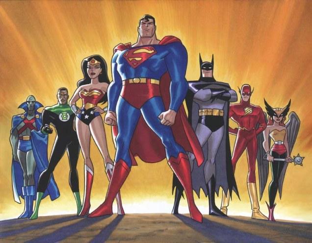 Liga Justicia dibujos