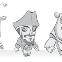 Minifiguras de Woody, Sully y Jack Sparrow