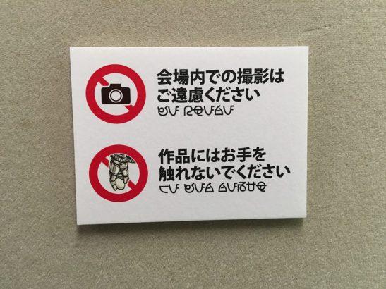 Exhibit signs were conveniently provided in Zentraedi.