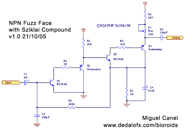 npn fuzz with sziklai transistor compound  bioroids