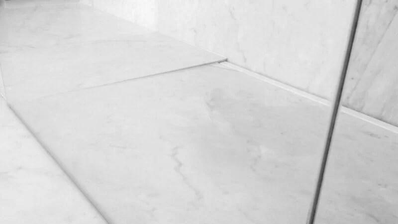 Beyaz Carrara Mermer Duş Tavası