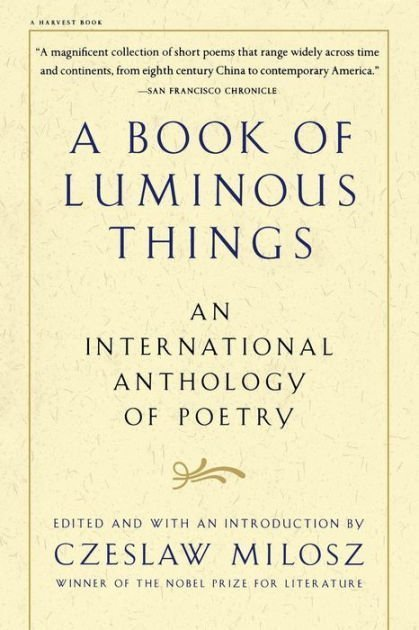 Favourite book, A book of Luminous Things, cover image