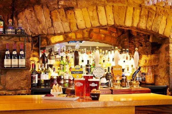 Bar at the Deddington Arms Hotel Oxfordshire