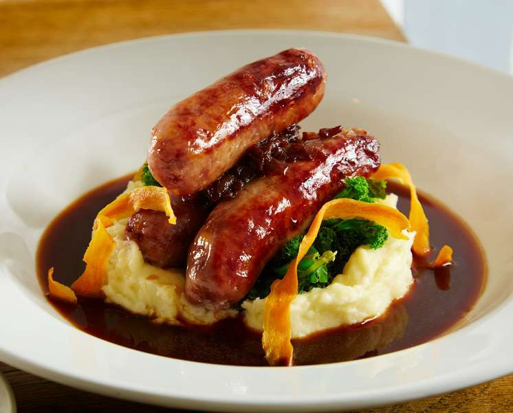 Sausage and Mash Deddington Arms Restaurant