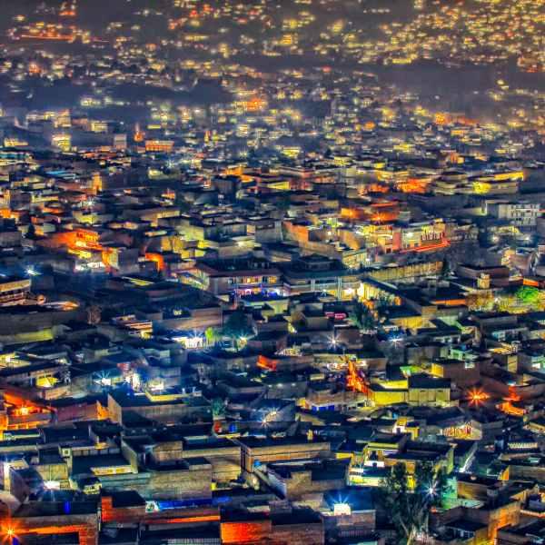 Mingora at night - Swat Valley