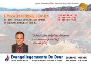 Folder speciale jubileum diensten pastor Bert Fledderus