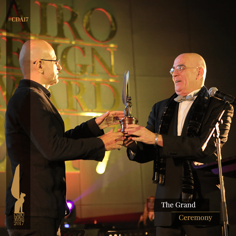 Co- founder Omar Nagat receives the award the Cairo Design Award ceremony