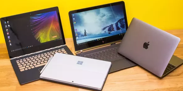 variety of laptops