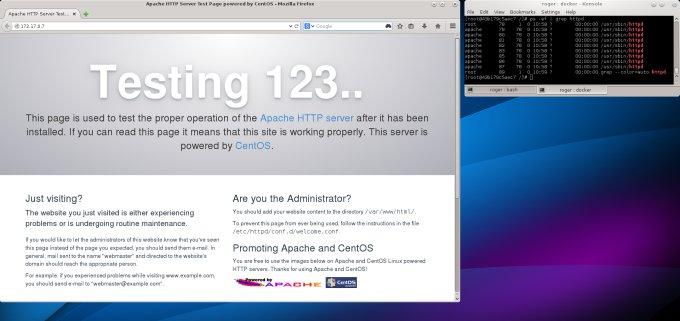 Web server running