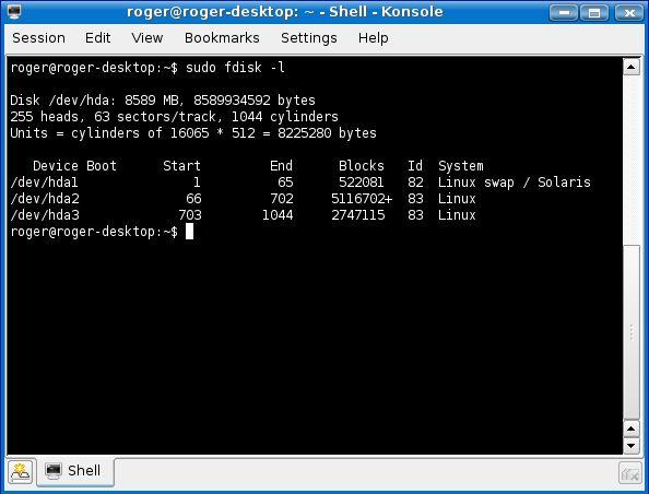 Linux commands - fdisk