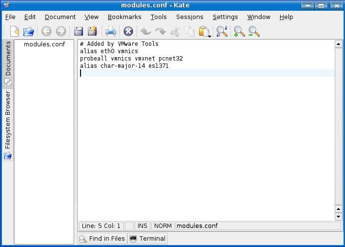 Linux commands - modules.conf