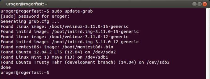 GRUB update