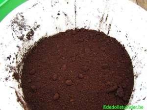 Volgende laag koffieprut
