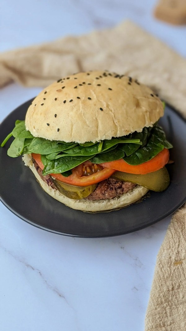 recetas veganas imprescindibles hamburguesa con pan super suave