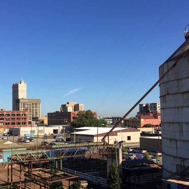 Waco's tiny skyline, as seen from atop the Magnolia Market rooftop