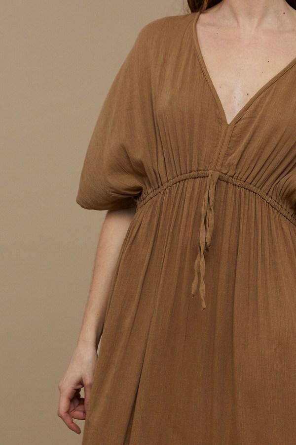 Long Dress – BY-BAR – Dry Khaki BY-BAR Jurk