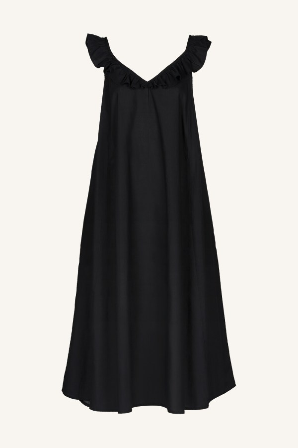 Flore Dress - BY-BAR - Jet Black