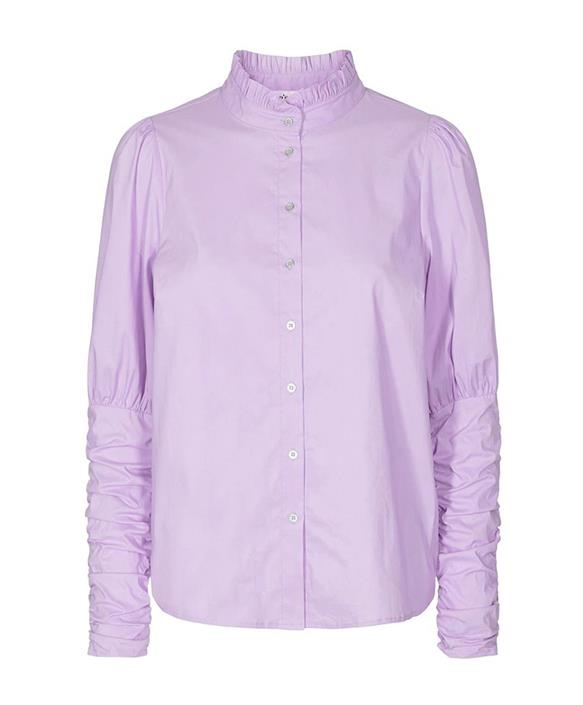 Sandy Puffshirt Poplin - Co'Couture - Paars