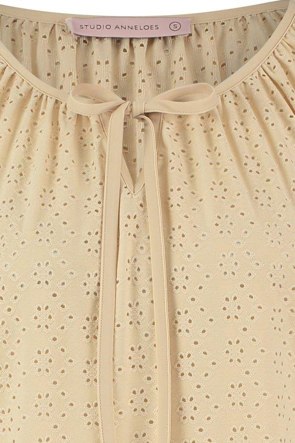 Nyne Broderie Shirt - Studio Anneloes - Sand