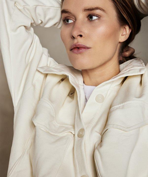 Short Jacket Fleece – 10DAYS – Ecru 10Days Jacket