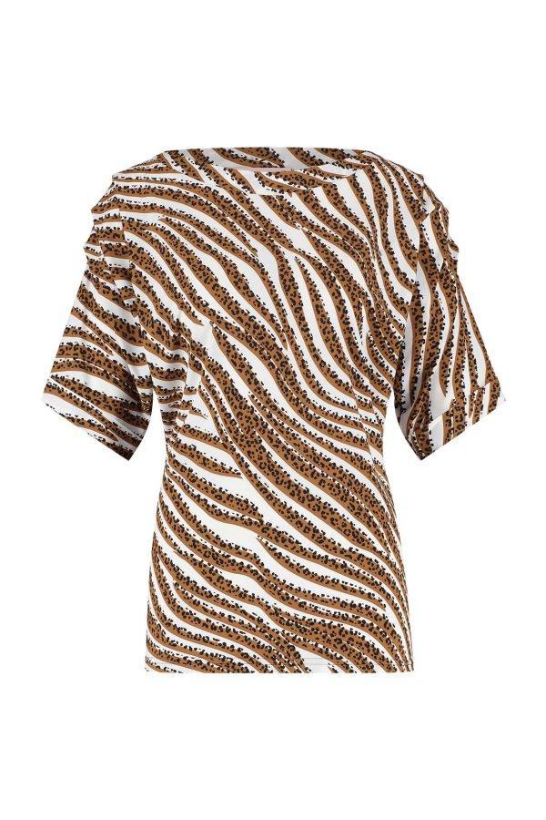 Jamie Tiger Shirt - Studio Anneloes - Off White Caramel