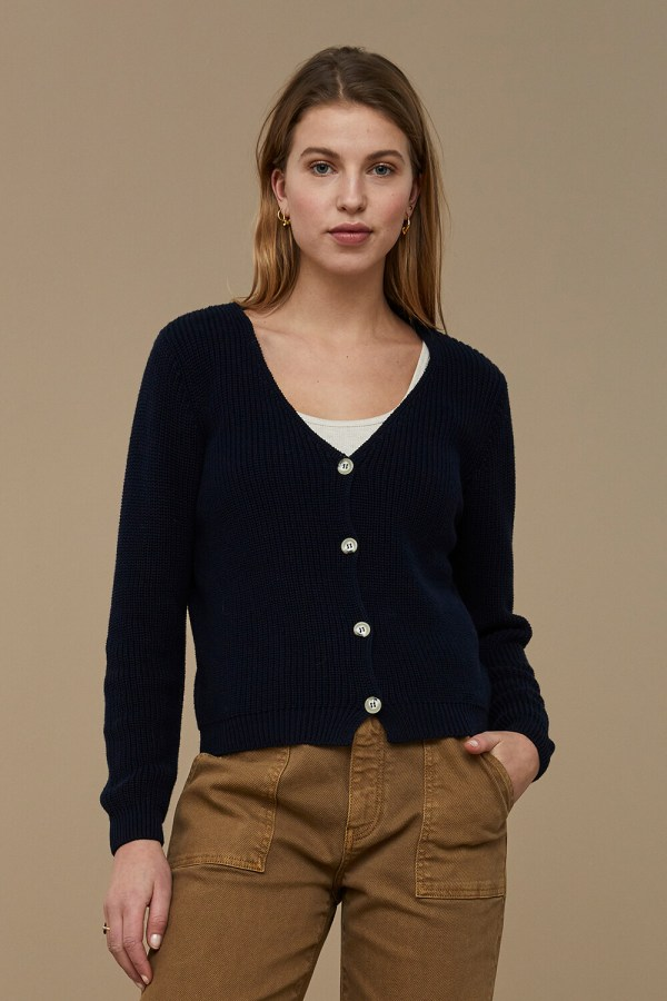 Quinty Cardigan - BY-BAR - Donker Blauw