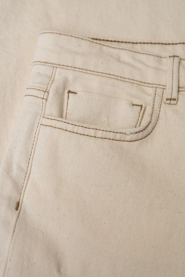 Mojo Raw Pants - BY-BAR - Off white
