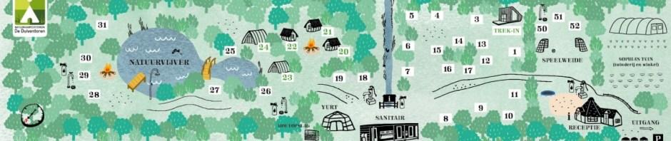 Plattegrond Natuurkampeerterrein De Duiventoren