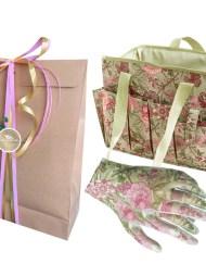 GardenGirl cadeau 2 met een mooie gereedschapstas en wied handschoenen