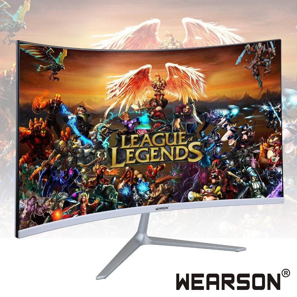 Wearson 23.8 inch Ultra Thin Flexural 7mm Curved Widescreen Gaming Monitor