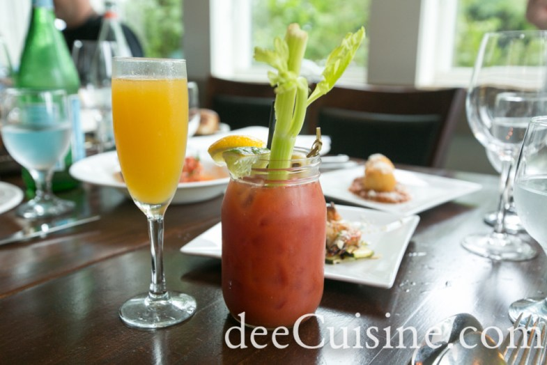 Mango Bellini and Bloody Mary at Table 104