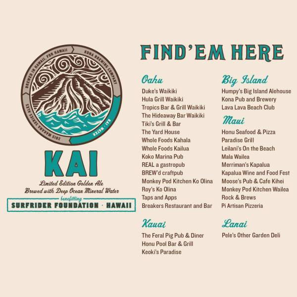 Where to Try Kona Brewing Company's Kai Brew