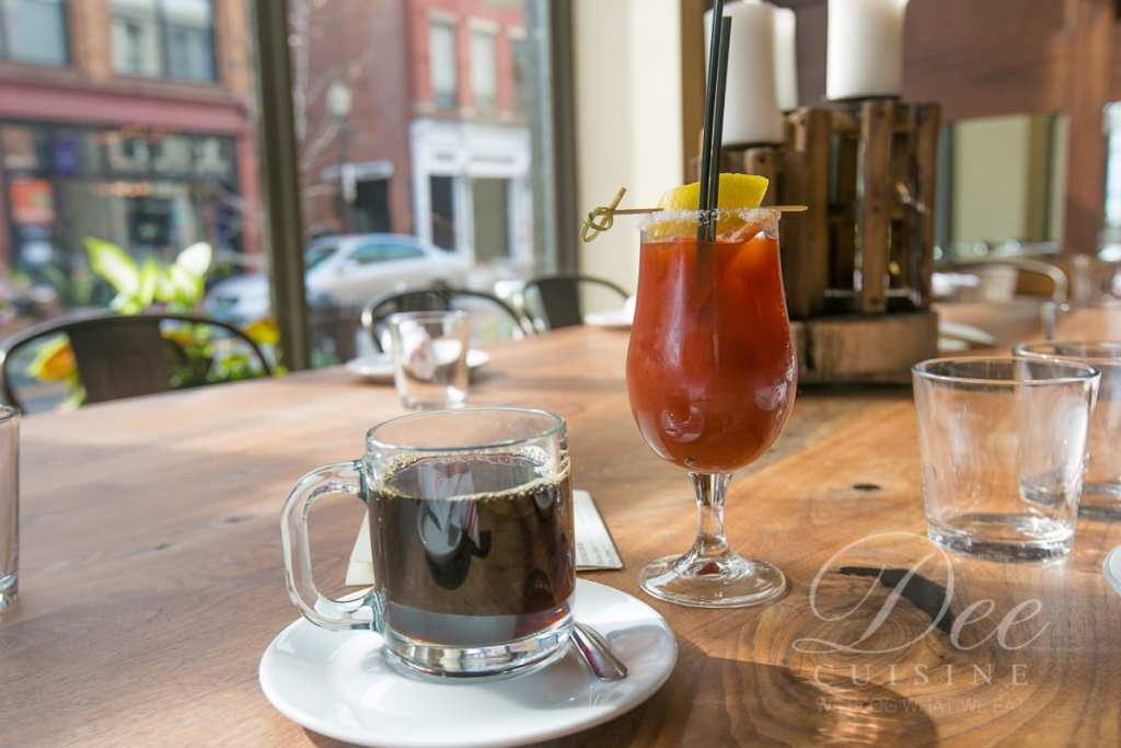 Coffee and a Bloody Mary at Cask Republic SoNo