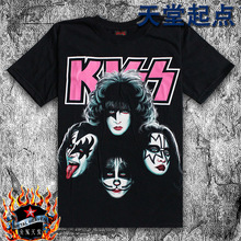 summer-2014-new-rock-tee-Black-male-short-sleeve-T-shirt-o-neck-fashion-personality-kiss.jpg_220x220