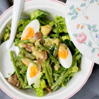 Sperziebonen salade met mosterddressing