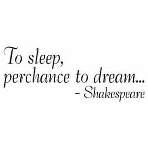 to sleep, where everything seems clear