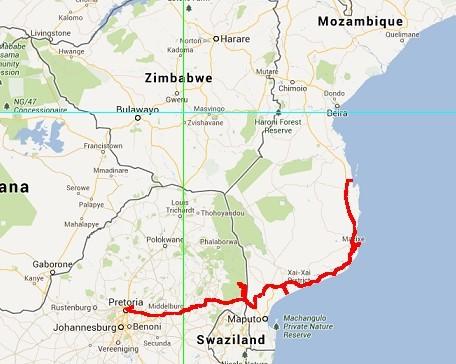Afscheid Zuid Afrika, naar Mozambique (2015-06)