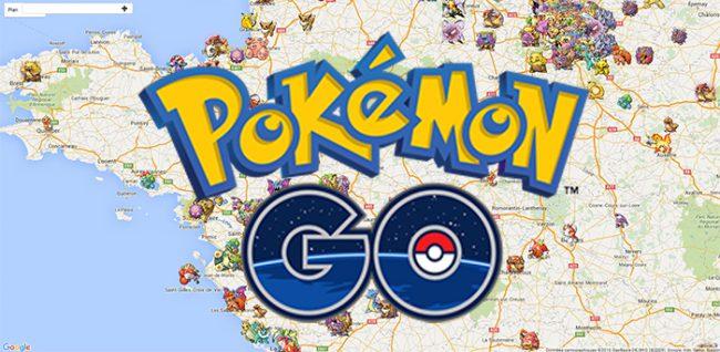 pokemon go carte google