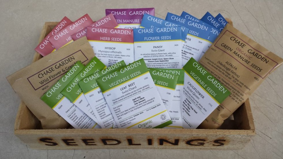 Chase Organic Seed packets