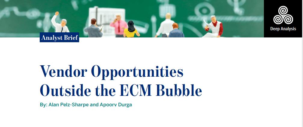 Vendor Opportunities Outside the ECM Bubble   Deep Analysis