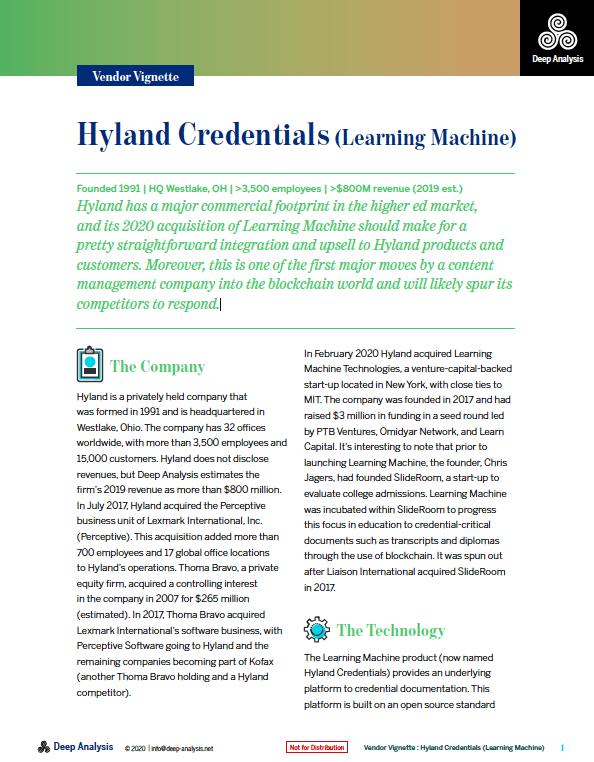 Hyland Credentials Report | Deep Analysis | Vendor Vignettes