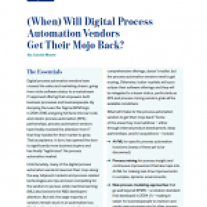 (When) will Digital Process Automation Vendors get their mojo back?