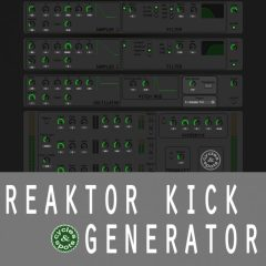 Reaktor Kick Generator <br><br>– 1 Reaktor Ensemble Instrument (Integrated Samples, Oscillator, FX, Randomize Button)