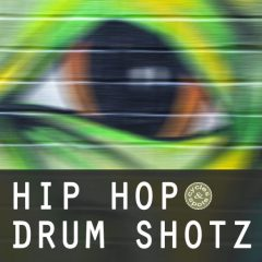 Hip Hop Drum Shotz <br><br>– 300 One-Shots (100 Kicks, 100 Snares, 100 Hihats), 24 Bit Wavs.