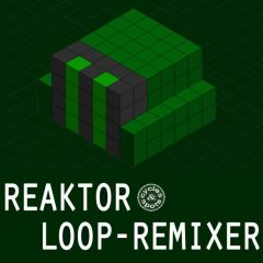 Reaktor Loop Remixer <br><br>– 1 NI Reaktor Ensemble (Full Version 6.1 & Higher), 50 Snapshots (Presets), 100 Loops Included (Importing New Ones Possible), 307 MB.