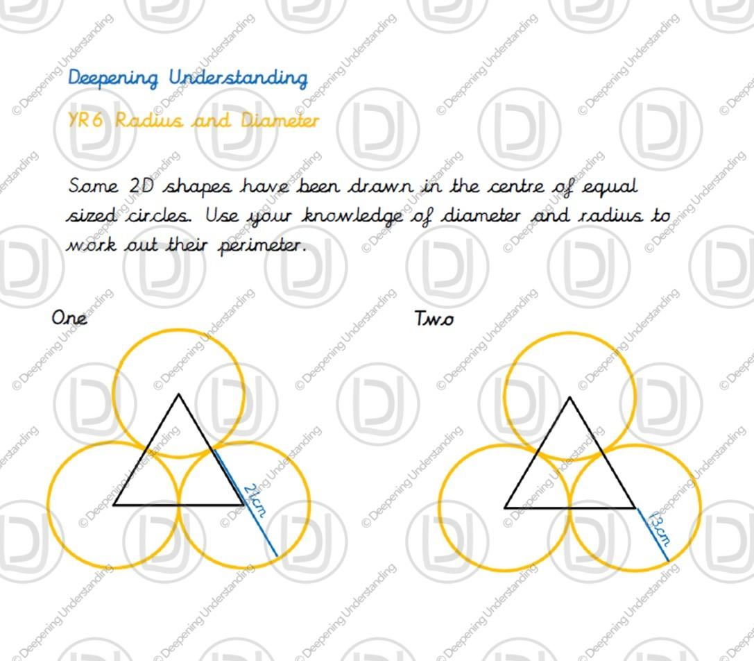 Year 6 Circles Using Diameter And Radius To Find