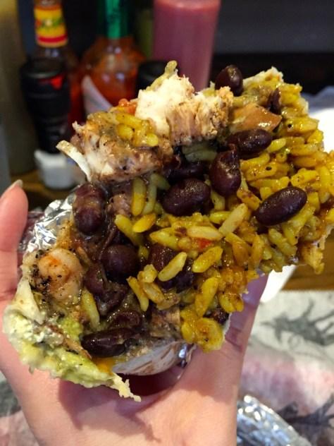 Juan's Flying Burrito totally hit the spot.