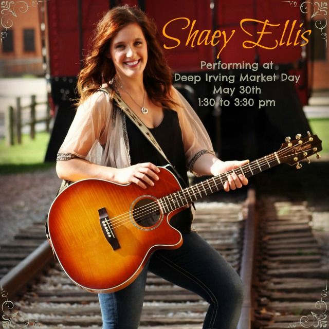 Shaey Ellis will perform Live at Deep Irving Market Day